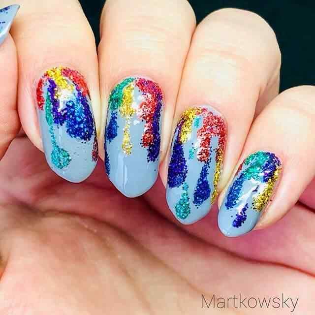 diseño de uñas faciles abstractos