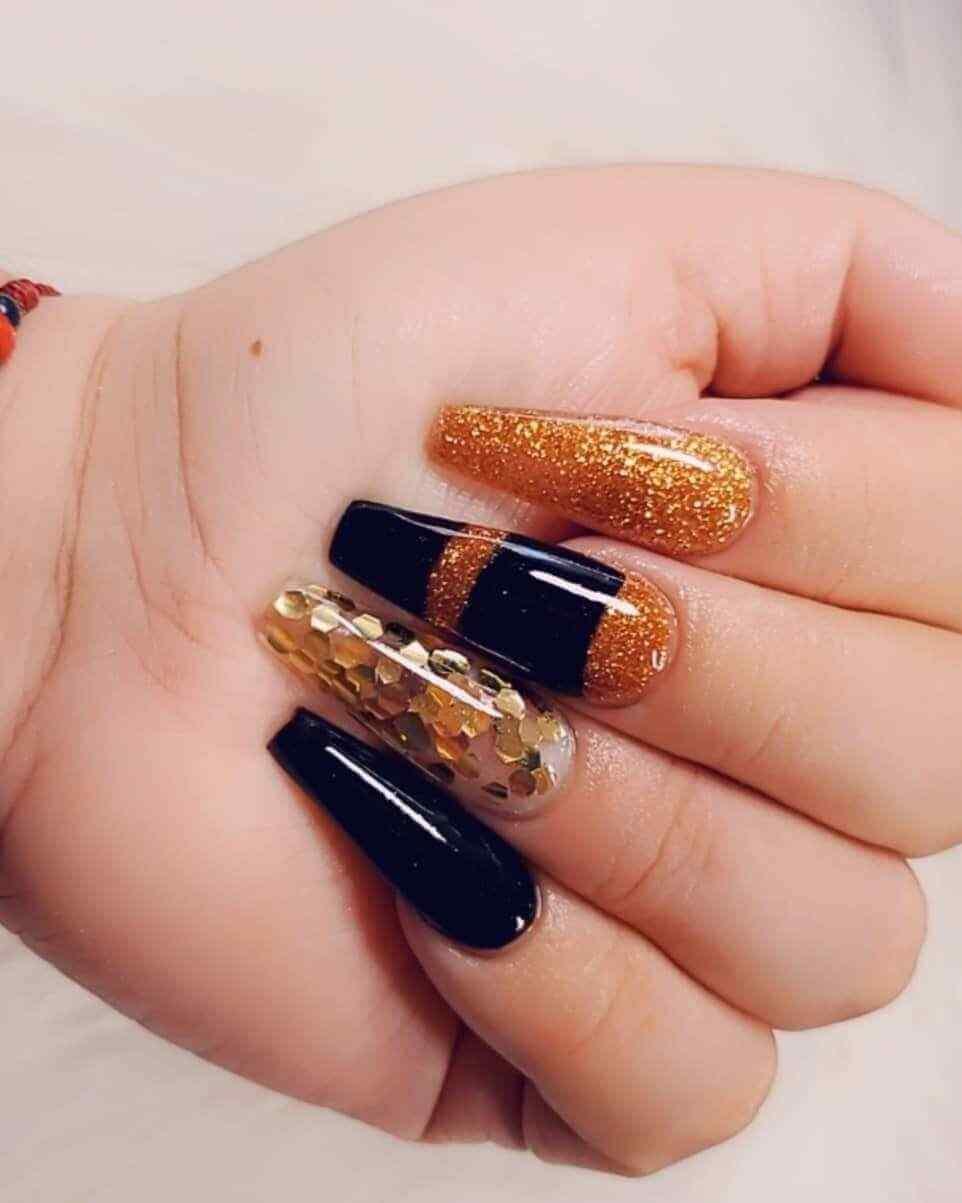 dorado y negro combinacion elegante