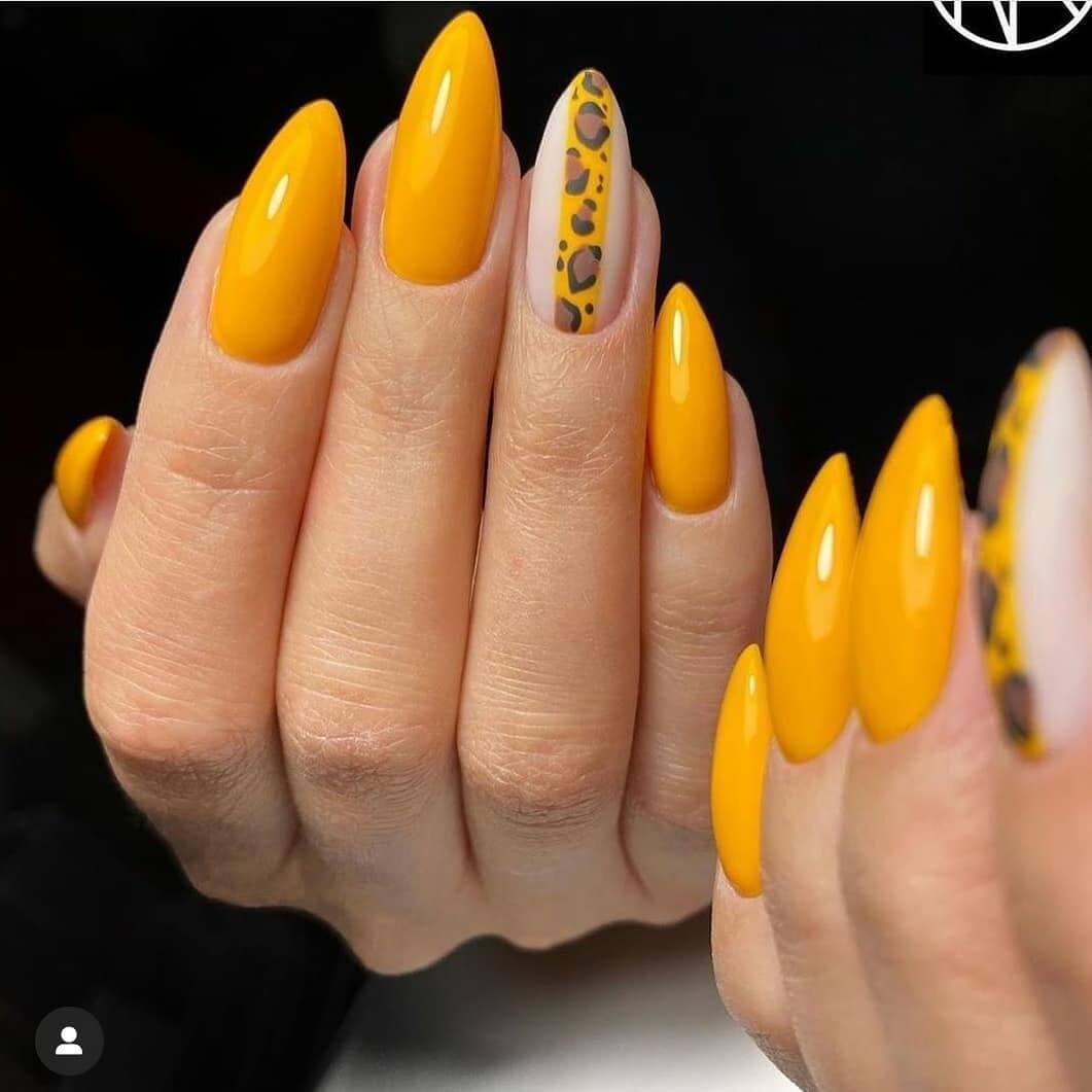 70 Uñas Decoradas Color Amarillo Mostaza Pastel Y Mas Diseños
