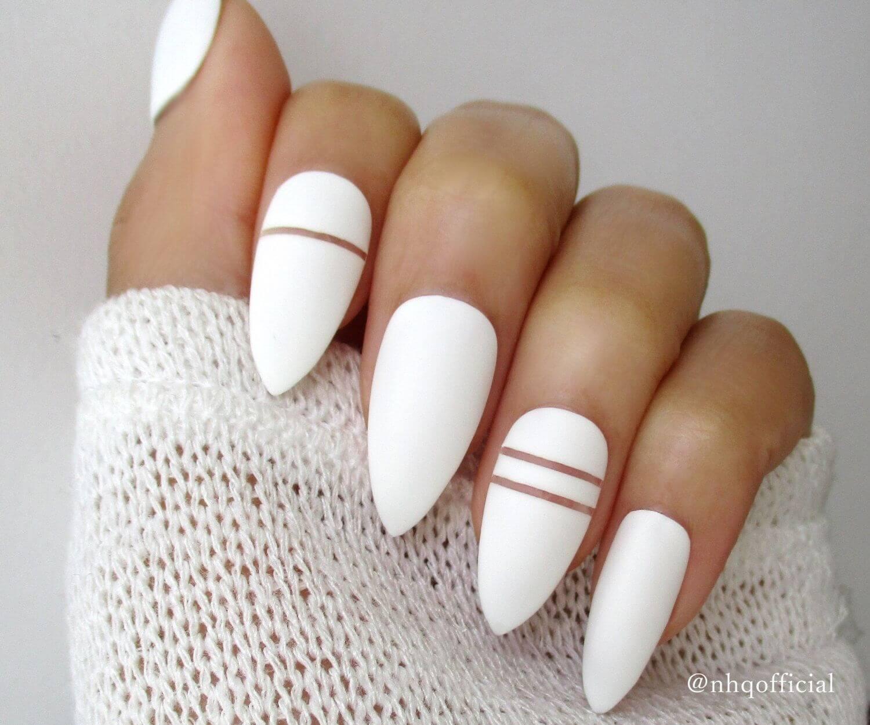 uñas blancas mate