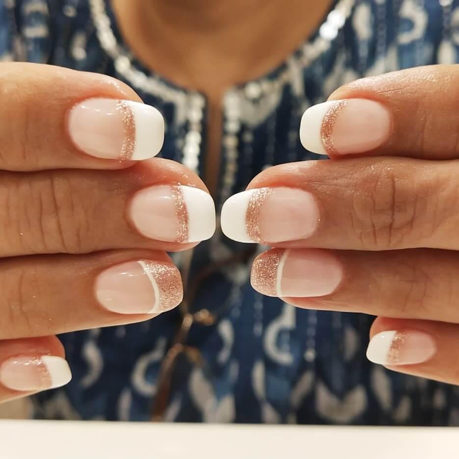 uñas francesas blancas