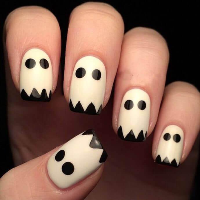 unas de fantasma halloween