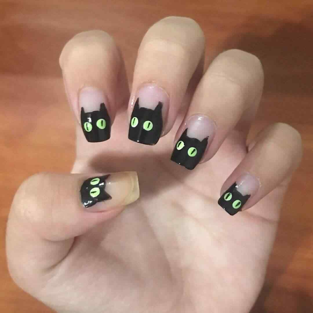 uñas decoradas gato facil