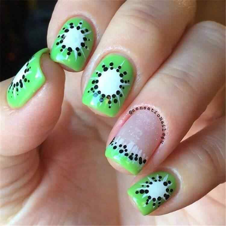 uñas decoradas kiwi