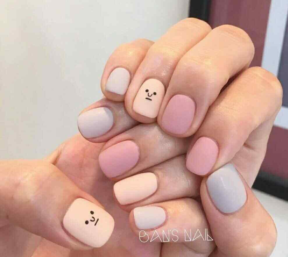 uñas decoradas sencillas colores pastel