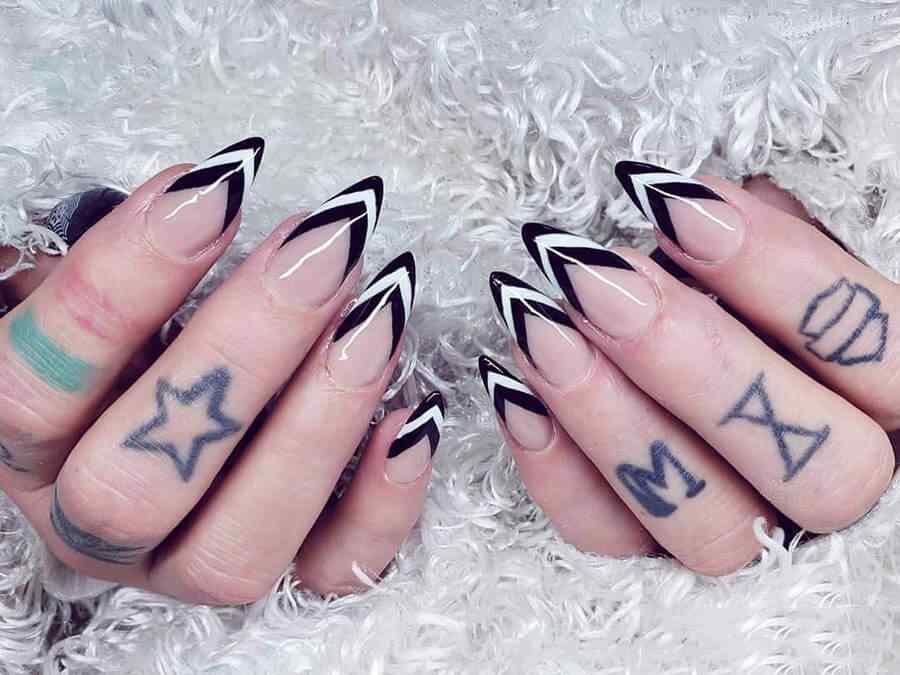 Lineas triangulares desde la punta