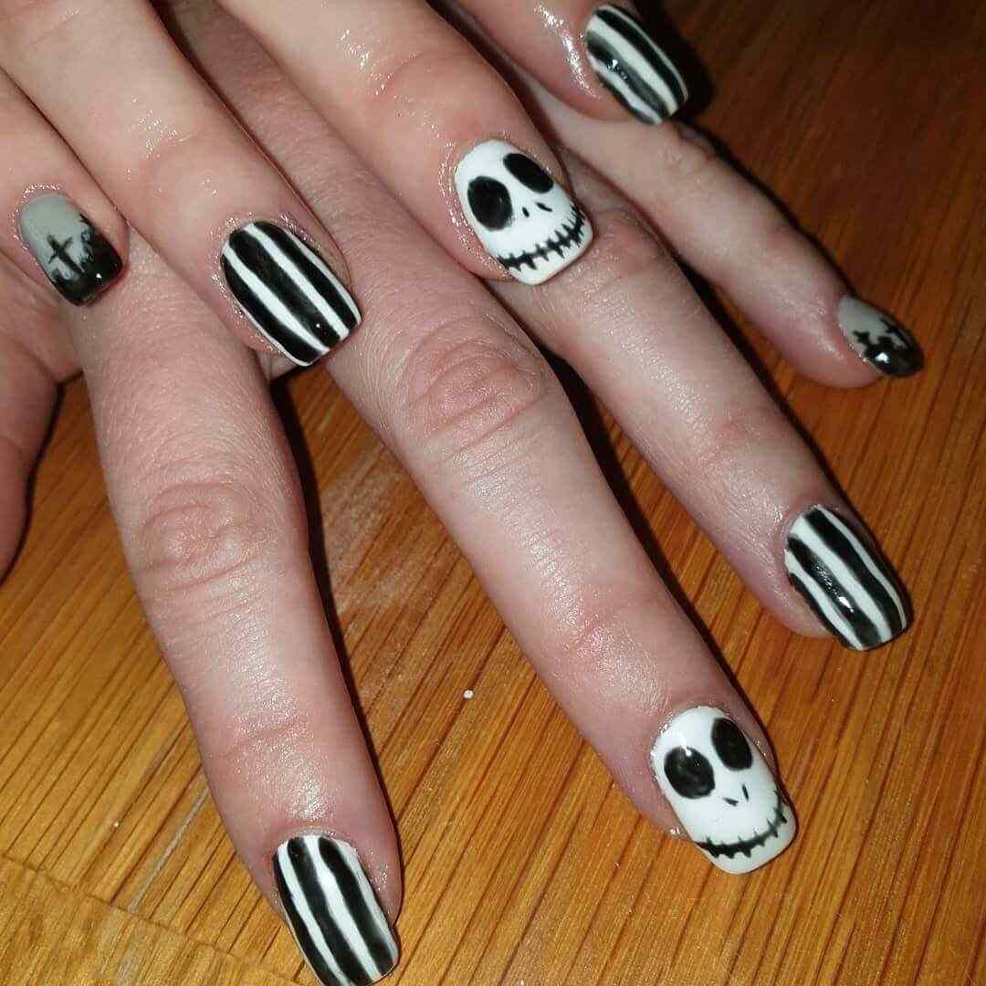 uñas para dia de los muertos