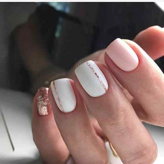 blanco rosa y dorado