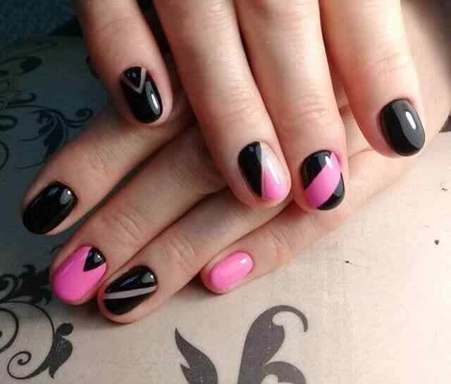 Combinacion de negro y rosa o fucsia