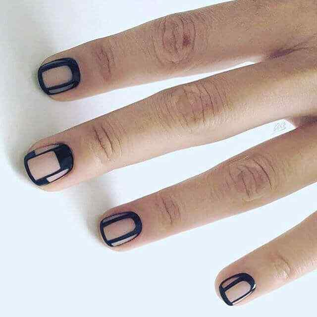 uñas cortas faciles en negativo