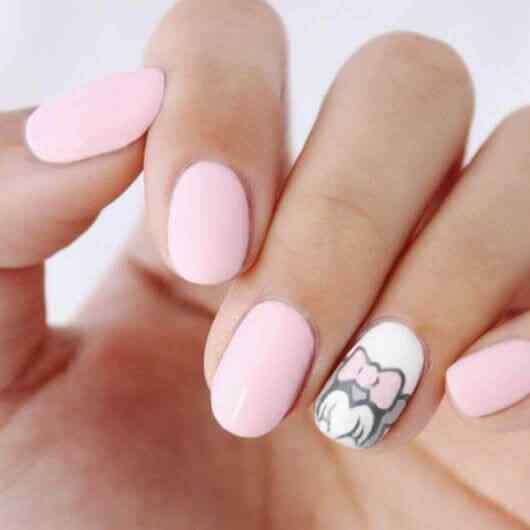 uñas cortas para niñas