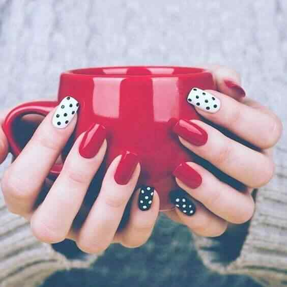 rojo blanco y negro