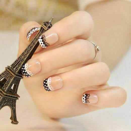 uñas francesas cortas elegantes