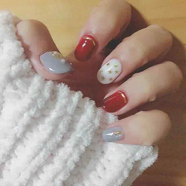 uñas rojas delicadas