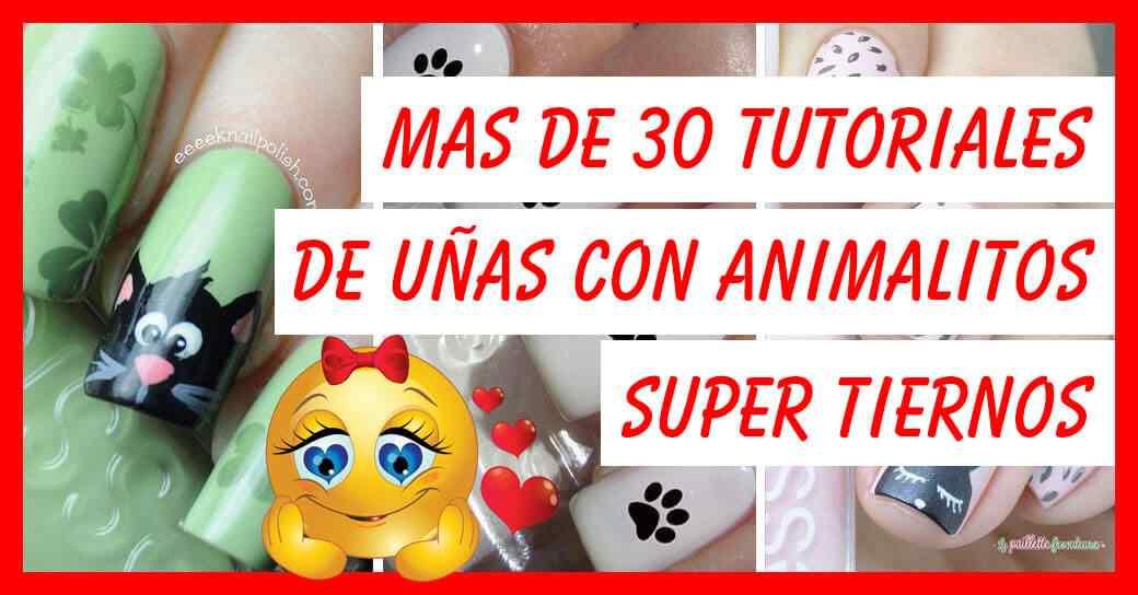 Tiernos Diseños De Uñas Decoradas Con Animalitos