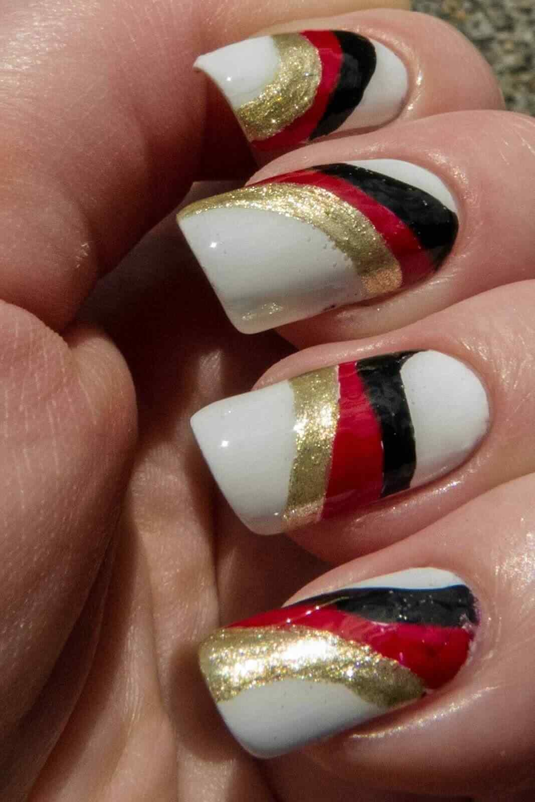 decoracion de uñas bandera alemania
