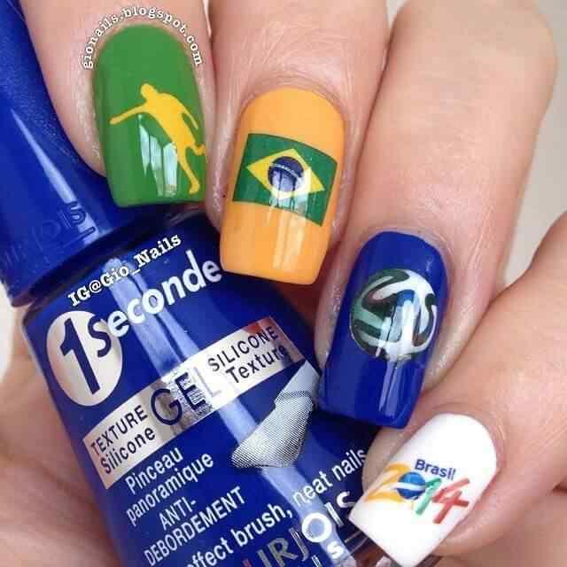 decoracion de uñas de brasil