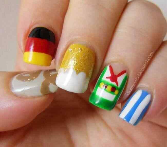 diseños de uña bandera alemania