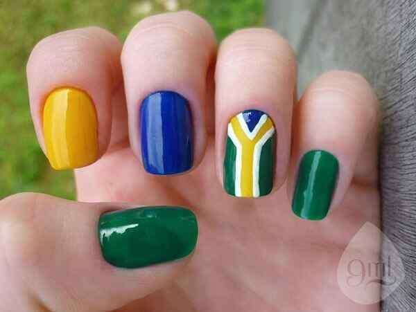 disenos de uñas de brasil