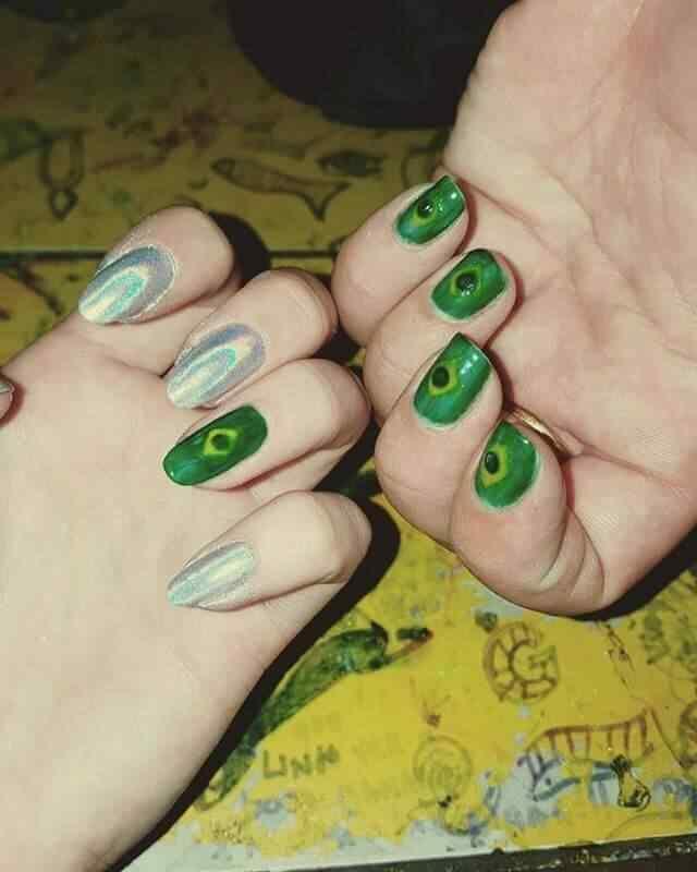 uñas decoradas con bandera brasil