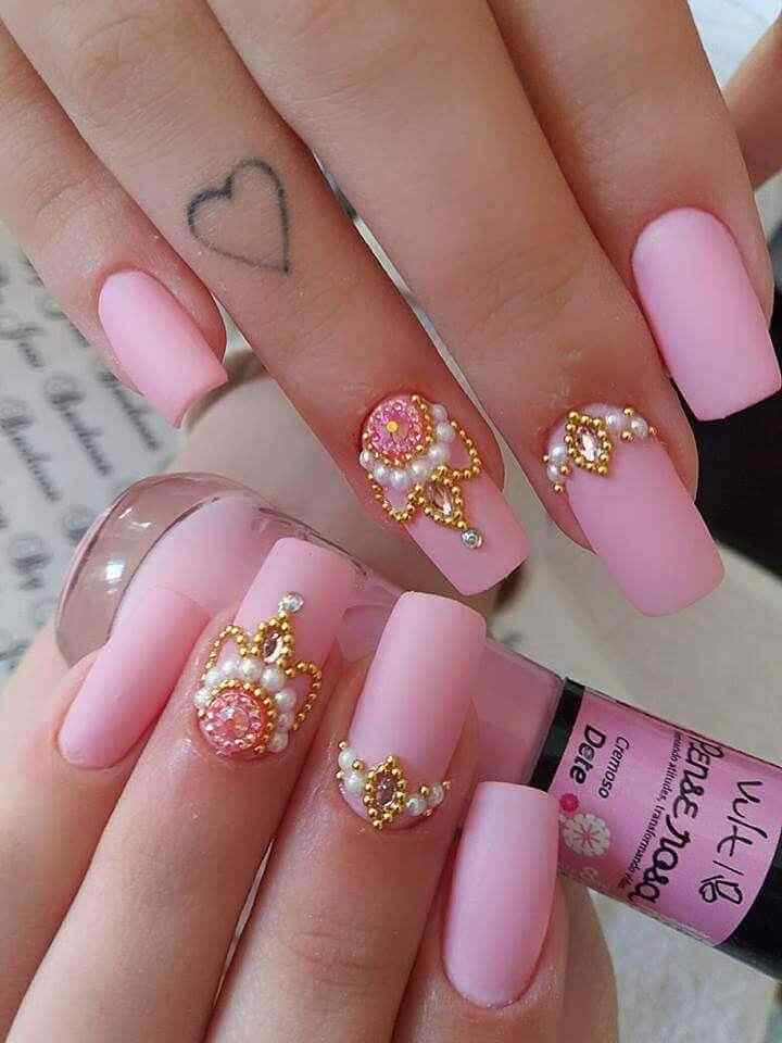 nail models with stones
