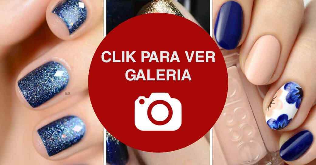 Uñas azules galeria de imagenes
