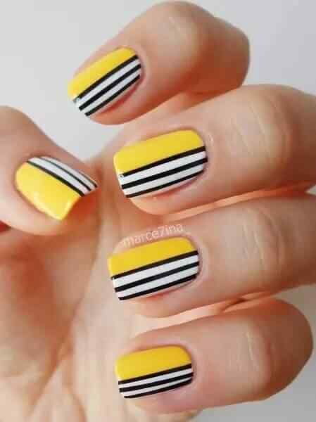 Nail images with lines