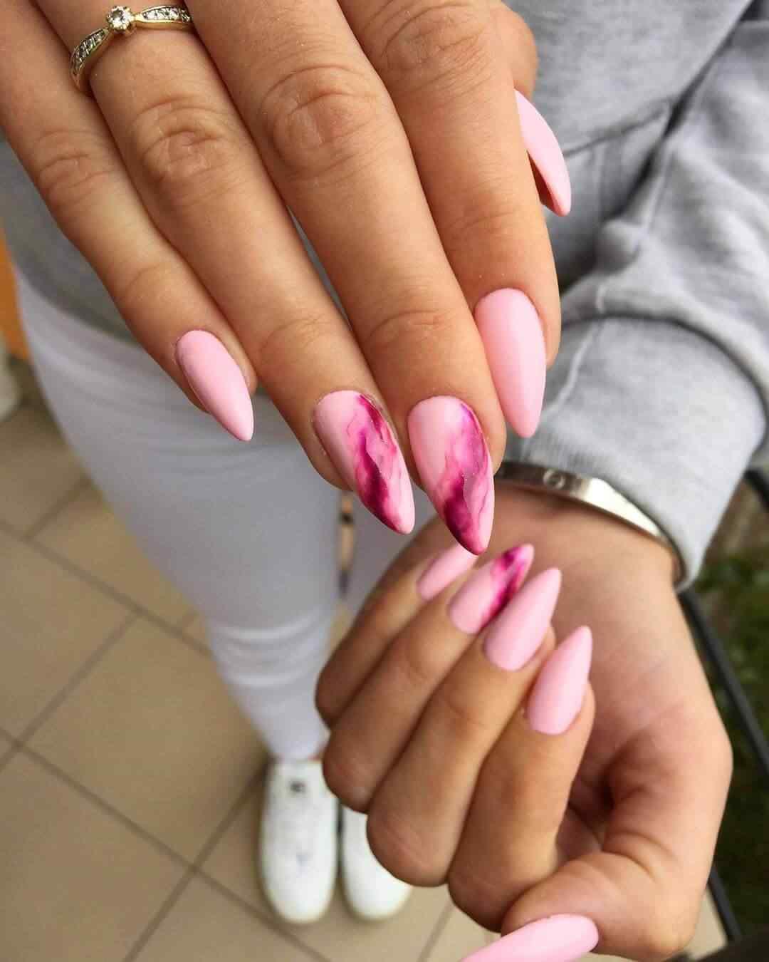 Pink elegant nails
