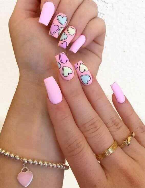 Juvenile pink nails