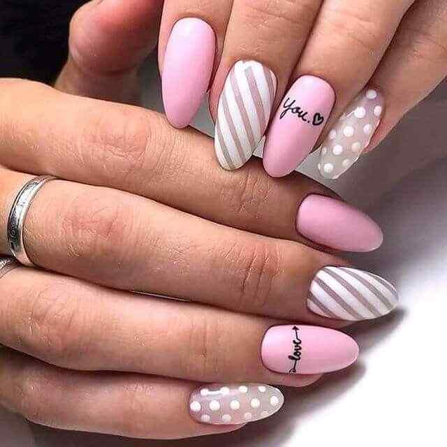 Modern pink nails