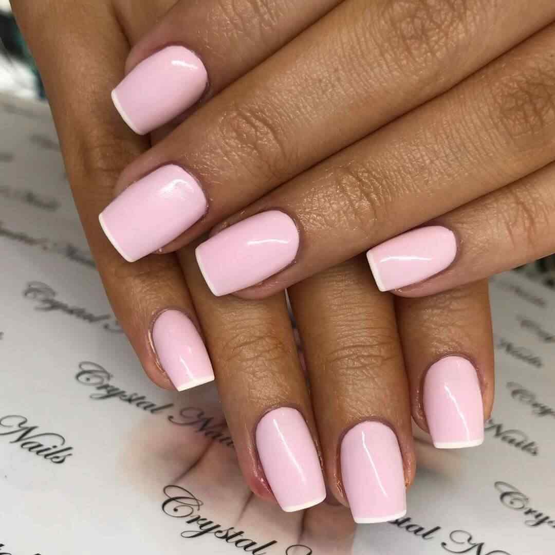 decoración uñas elegantes rosa sencillas francesas