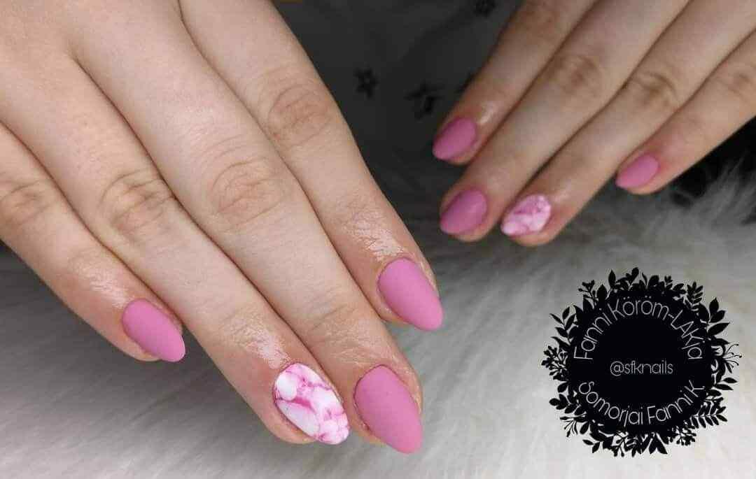 uñas elegantes decoradas rosa mate