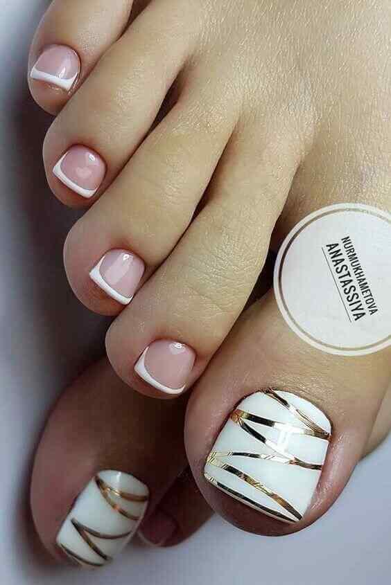 uñas para el pie elegantes