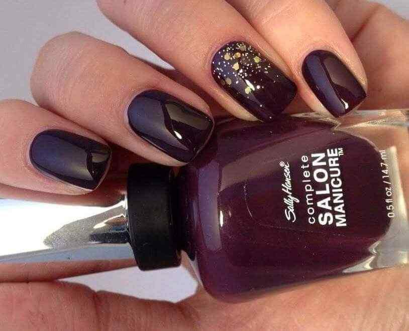 fotos de uñas vino tinto
