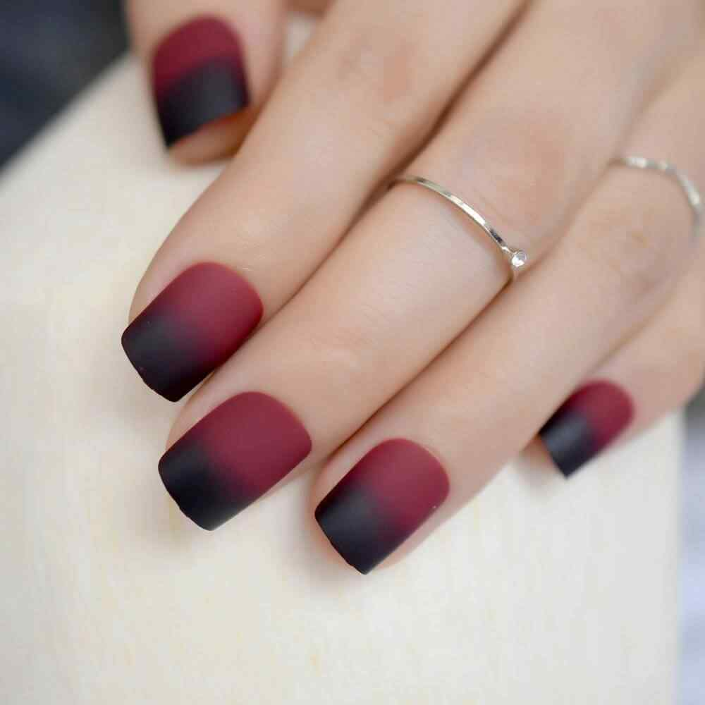 degraded wine colored nails