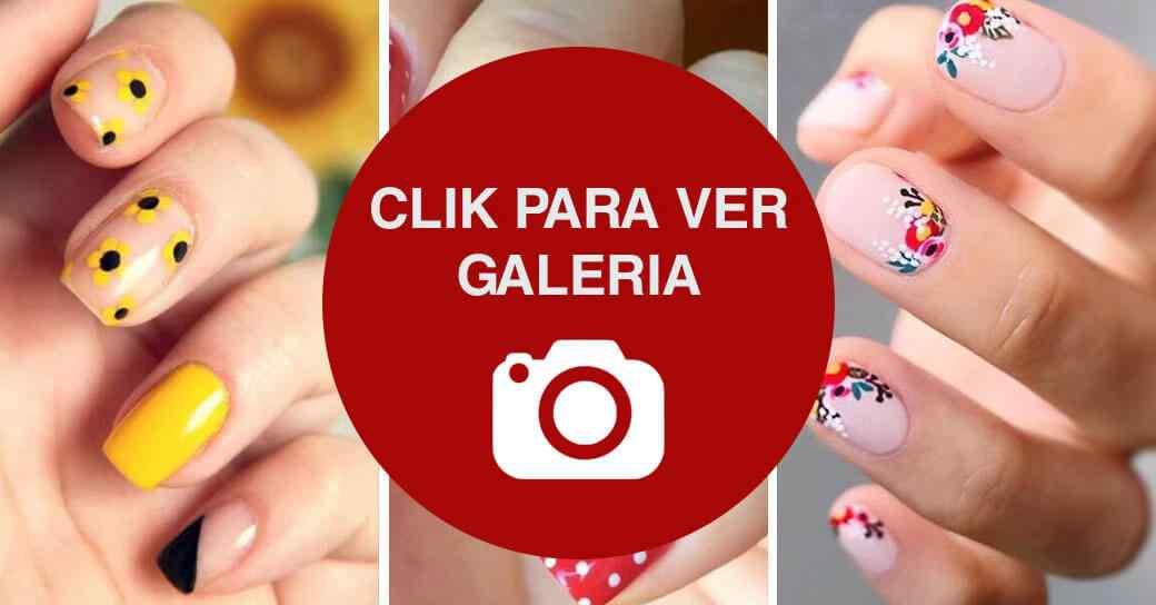 Decoracion de uñas con flores galeria