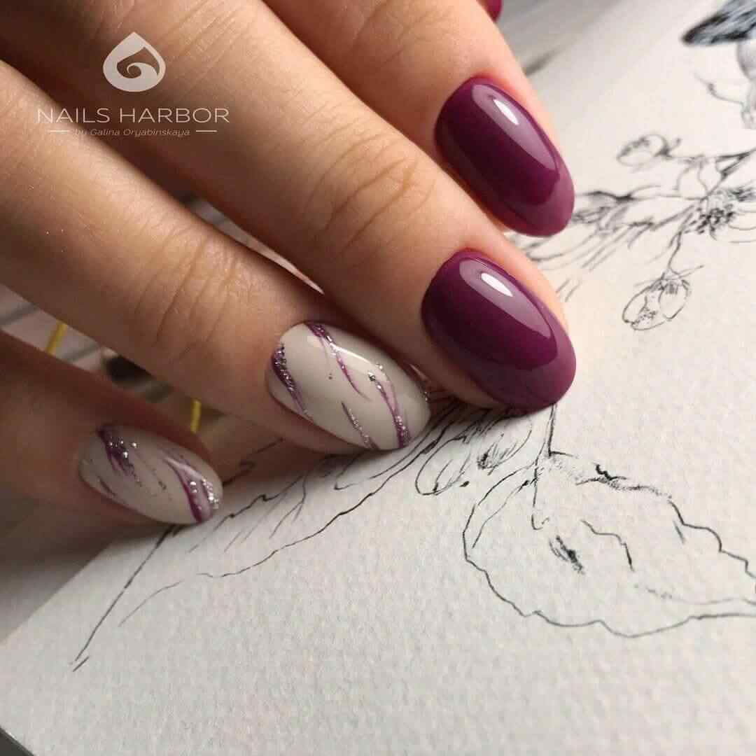 uñas vino decoradas