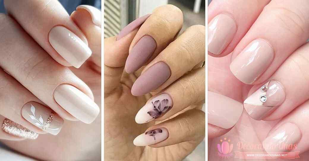 Imagenes de uñas nude decoradas