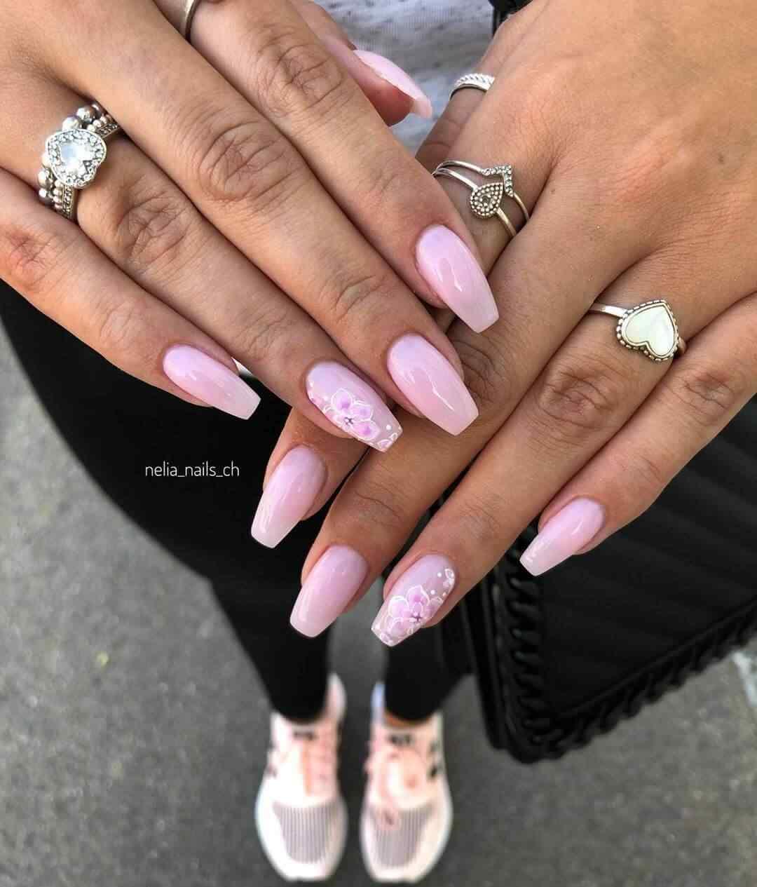 uñas rosa con nude