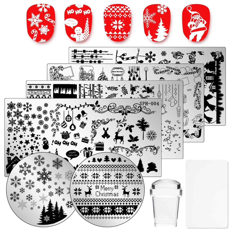 estampado navidad para uñas
