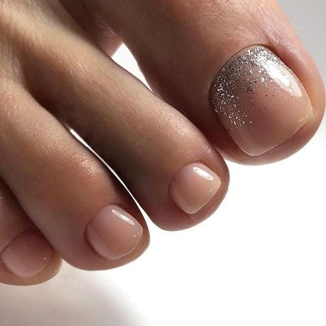 uñas de novia para el pie