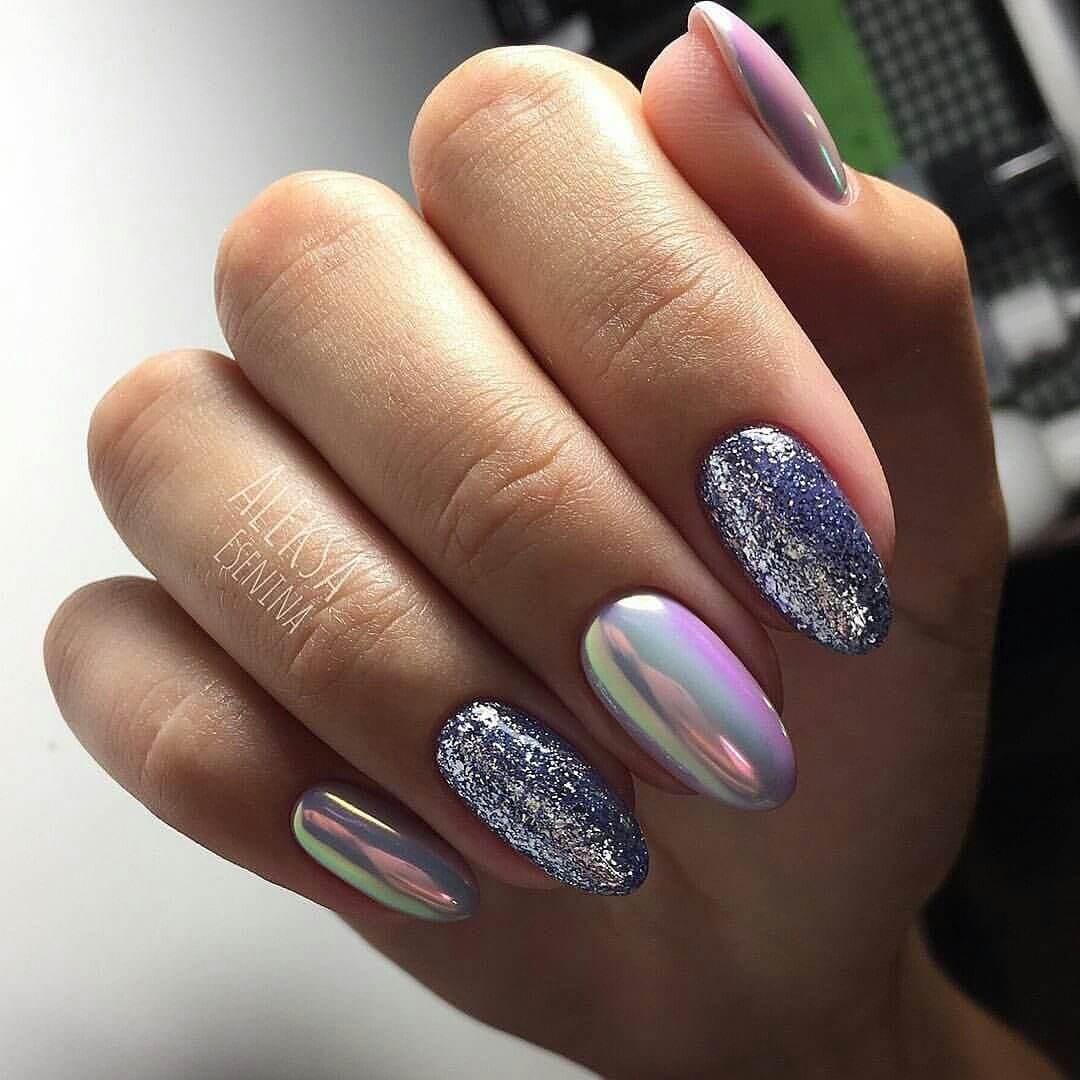 diseño de uñas espejo tornasol